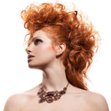 Fashion Portrait Of Luxury Woman With Jewelry Isolated Royalty Free Stock Image