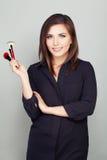 Fashion Portrait of Makeup Artist Woman Royalty Free Stock Image