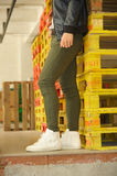 Fashion portrait, men, slim pants Stock Image
