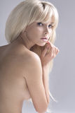 Fashion portrait of nude elegant woman Royalty Free Stock Photography