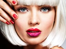 Free Fashion Portrait Of A Beautiful Girl`s Face With Professional Royalty Free Stock Photo - 127532945