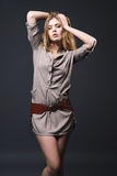 Fashion Portrait Of Seductive Young Woman Royalty Free Stock Photo
