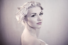 Fashion Portrait Of Young Elegant Woman Stock Image