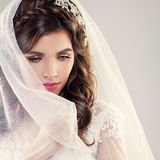 Fashion Portrait of Perfect Bride Stock Photography