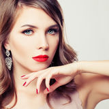 Fashion Portrait of a Perfect Woman with Makeup Royalty Free Stock Photo