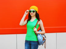 Fashion portrait of pretty girl in sunglasses Royalty Free Stock Photography