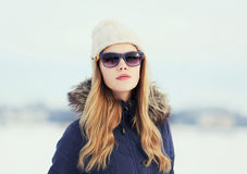 Fashion portrait of pretty hipster girl Royalty Free Stock Photography