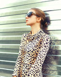 Fashion portrait pretty young woman wearing a sunglasses Stock Image