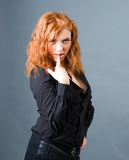 Fashion portrait of a red hair sexy woman Royalty Free Stock Photos