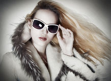 Fashion portrait of seductive woman Royalty Free Stock Photography