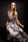 Fashion portrait of sensual young female Royalty Free Stock Image