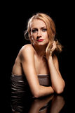 Fashion portrait of sensual young woman Royalty Free Stock Photo