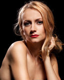 Fashion portrait of sensual young woman Stock Photos