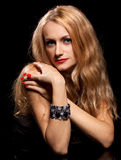 Fashion portrait of sensual young woman Royalty Free Stock Images