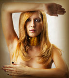 Fashion portrait of glamour woman Royalty Free Stock Photography