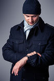 Fashion portrait of sexy handsome man Stock Image