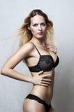 Fashion portrait of sexy underwear model Royalty Free Stock Photos
