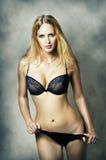 Fashion portrait of sexy underwear model Stock Photography
