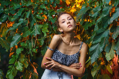 Fashion portrait shoot of a beautiful teen girl Royalty Free Stock Photography