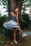 Fashion portrait shoot of beautiful teen girl Stock Image