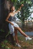 Fashion portrait shoot of beautiful teen girl Stock Photo