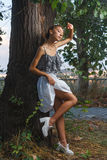 Fashion portrait shoot of beautiful teen girl Royalty Free Stock Images