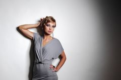 Fashion portrait in studio Stock Images