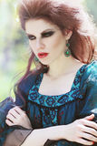 Fashion portrait style Boho Stock Images