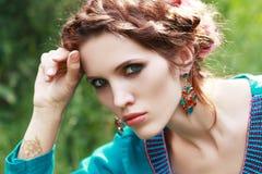Fashion portrait style Boho Royalty Free Stock Image