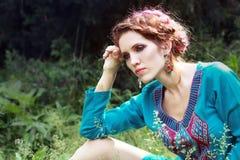 Fashion portrait style Boho Royalty Free Stock Photo
