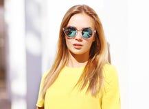 Fashion portrait stylish pretty woman in sunglasses outdoors Royalty Free Stock Photo