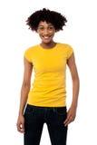 Fashion portrait of stylish young woman Stock Photography