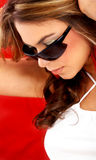 Fashion portrait - sunglasses Stock Images