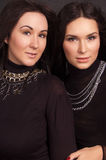 Fashion portrait of two young women Royalty Free Stock Photos