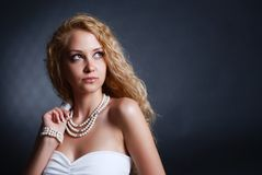 Fashion portrait of woman Royalty Free Stock Images