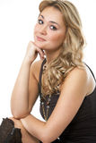 Fashion portrait of a woman in a casual dress Stock Photography