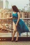 Fashion portrait of woman in city