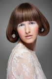 Fashion portrait of woman with haircut Royalty Free Stock Image