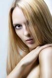 Fashion portrait of woman. Health hair Royalty Free Stock Photos