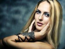 Fashion portrait of woman. Health hair Stock Photography
