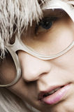 Fashion portrait of woman in sunglasses Royalty Free Stock Image