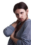 Fashion portrait of young attractive men Royalty Free Stock Photography