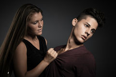 Fashion portrait of young beautiful couple Stock Photography