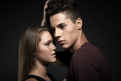 Fashion portrait of young beautiful couple Royalty Free Stock Photography