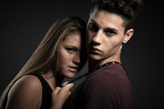 Fashion portrait of young beautiful couple Stock Image