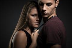 Fashion portrait of young beautiful couple Stock Image
