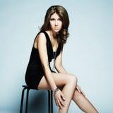 Fashion portrait of young beautiful elegant woman Royalty Free Stock Image