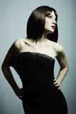 Fashion portrait of young beautiful elegant woman Stock Image