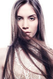 Fashion portrait of young beautiful woman Royalty Free Stock Photography