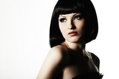 Fashion portrait of a young beautiful woman Royalty Free Stock Photo